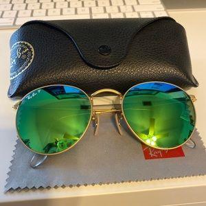 Ray ban polarized green flash round lenses